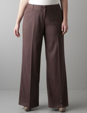 Patterned wide leg trouser