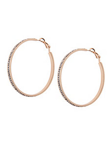 Cubic zirconium hoop earrings by Lane Bryant by Lane Bryant