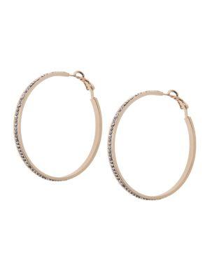 Cubic zirconium hoop earrings by Lane Bryant