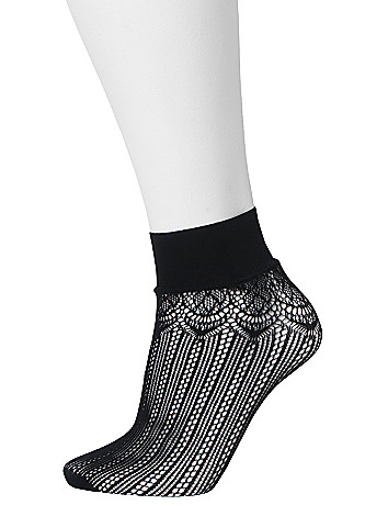 Scalloped & ruffled sock 2-pack by Lane Bryant