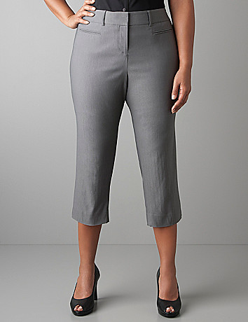 Pinstripe slim crop by Lane Bryant