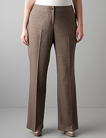 Checkered classic trouser by Lane Bryant