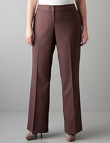 Plus sized Patterned classic trouser by Lane Bryant