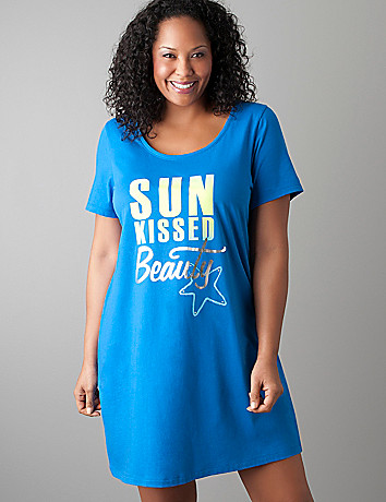 Plus size Sun Kissed sleepshirt by Cacique