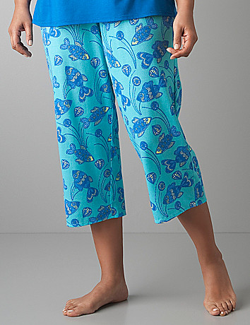 Fish print sleep crop by Cacique