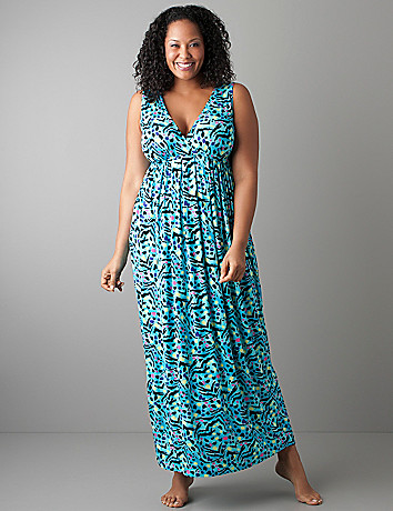 Full figure Animal print maxi dress by Cacique