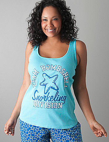Team Bombshell ribbed tank by Cacique