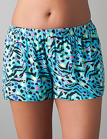 Tru to You colorful animal sleep short by Cacique