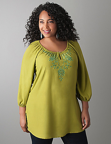 Embroidered blouse by Lane Bryant