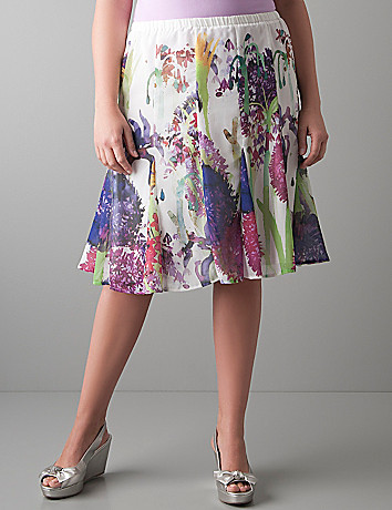 Full figure Floral chiffon skirt by Lane Bryant