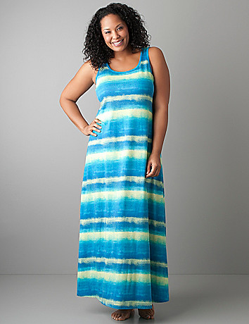 Ombre stripe maxi dress PJ by Cacique