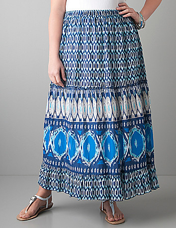 Print maxi skirt by Lane Bryant