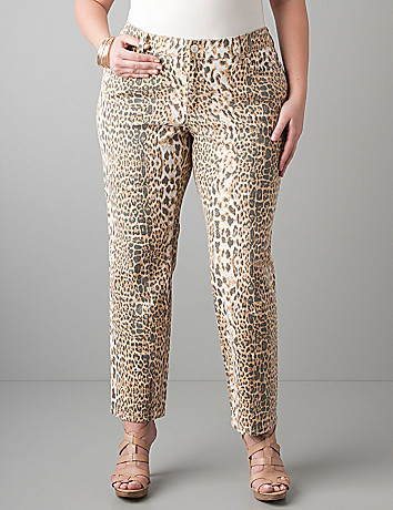 Leopard print ankle jeans by Seven7