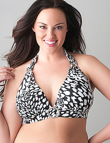 Animal print no-wire bikini top by Cacique