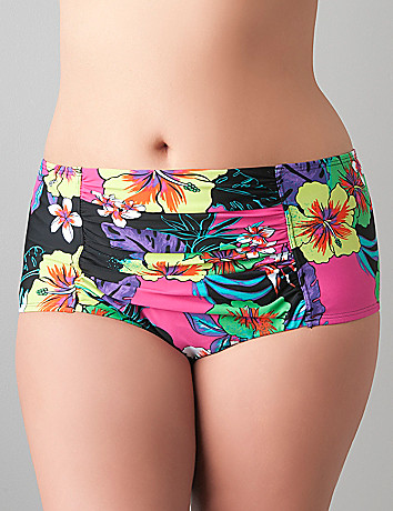 Floral swim hipster by Cacique