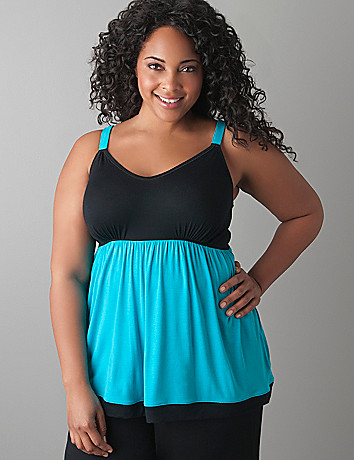 Plus size Colorblock cami by Cacique