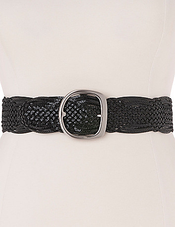 Braided snake stretch belt by Lane Bryant