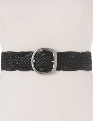 Braided snake stretch belt