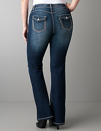 Deco stitch flare jean by Lane Bryant