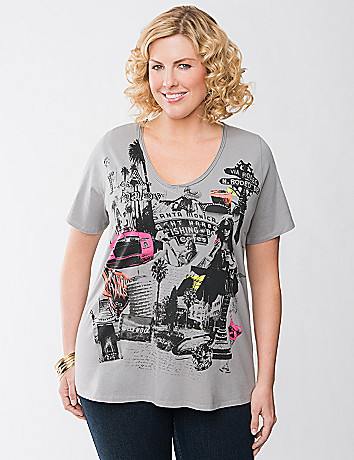 LA graphic tee by Lane Bryant