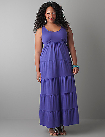 Tiered maxi dress by Cacique