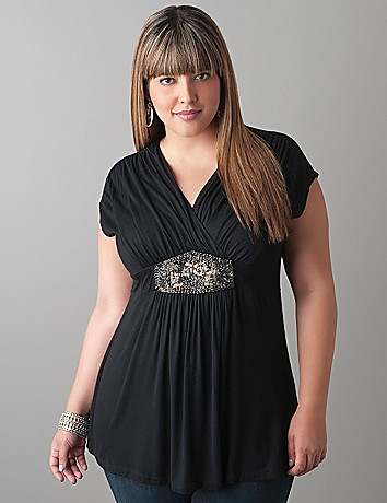 Full figure surplice top by Lane Bryant