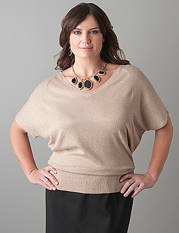 Sparkle dolman sweater by Lane Bryant