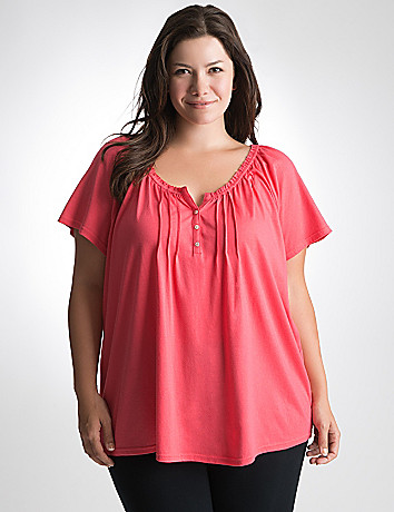 Plus Size Ruffled Sleep Tee by Cacique