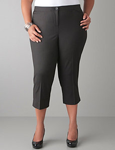 Patterned cropped pant with Tighter Tummy Technology