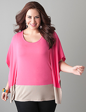Colorblock flutter top by Lane Bryant