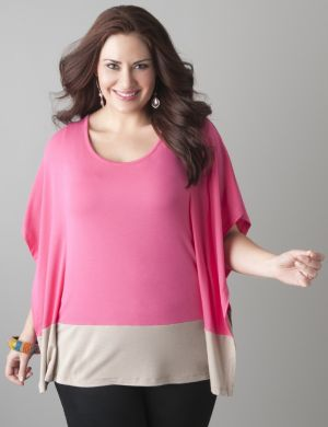 Colorblock flutter top