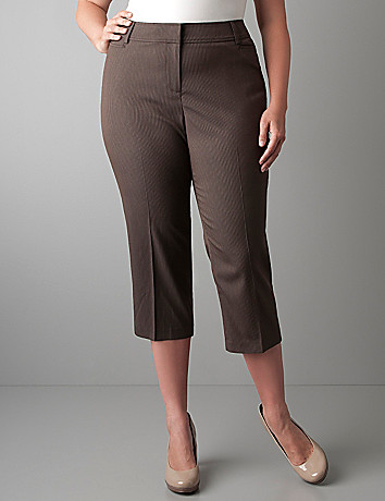 Cocoa stripe cropped pant by Lane Bryant