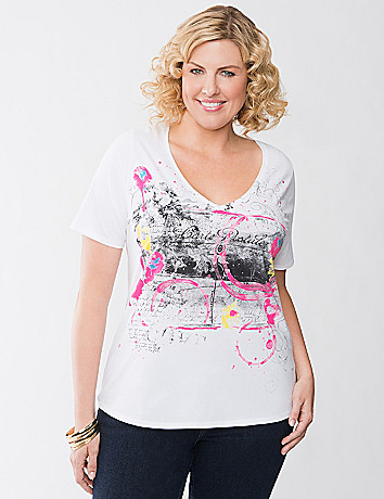 Splatter print tee by Lane Bryant