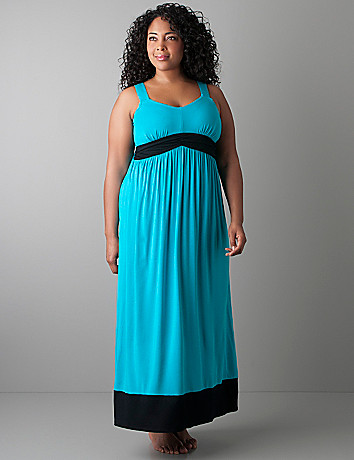 Colorblock maxi dress by Cacique