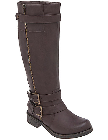 Side zip buckle boot by Lane Bryant