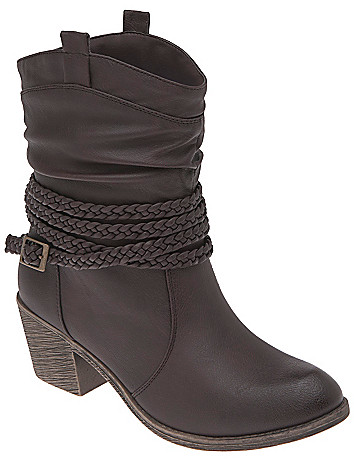 Braid wrapped short boot by Lane Bryant