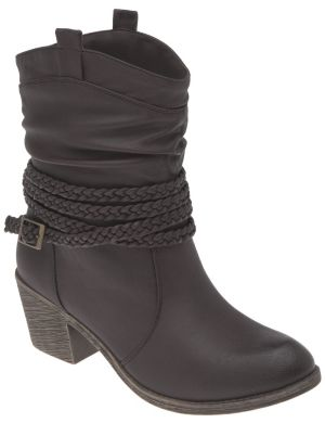 Braid wrapped short boot