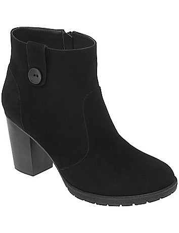 Faux suede ankle boot by Lane Bryant