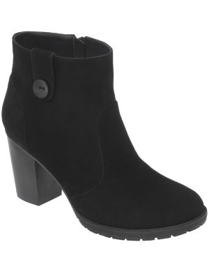 Faux suede ankle boot