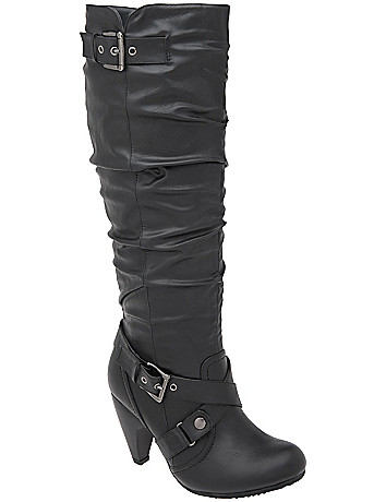 Cone heel tall boot by Lane Bryant