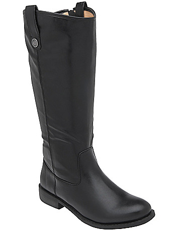 Wide calf equestrian boot by Lane Bryant