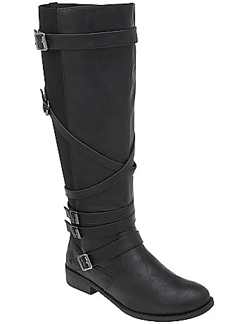 5 buckle riding boot by Lane Bryant
