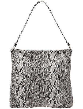 Faux snake hobo bag by Lane Bryant