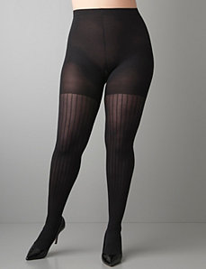 Plus Size Coil Stripe Tights by SPANX