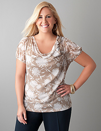 Sheer mesh floral top by Lane Bryant