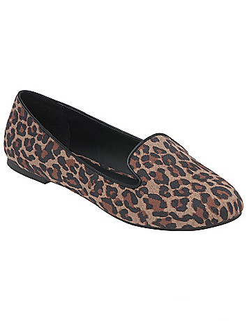 Faux suede animal flat by Lane Bryant