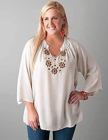 Embellished tunic by Lane Bryant