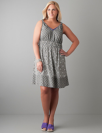 Mixed print dress by Lane Bryant