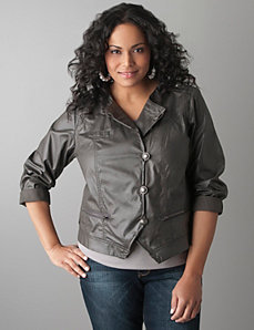 Full Figure coated jacket by Lane Bryant