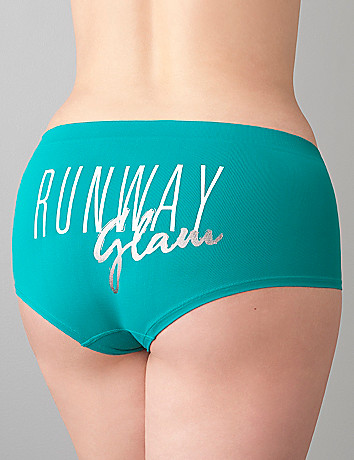 Runway Glam seamless boyshort panty by Cacique